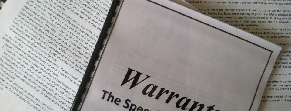 Warrant Booklet
